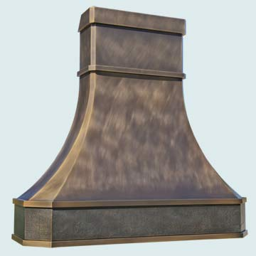 Custom Bronze Range Hoods Tall French Sweep 4780