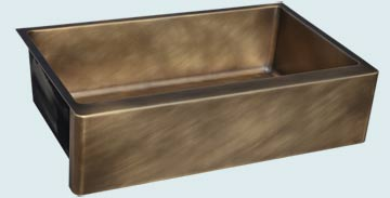 Custom Bronze Kitchen Sinks #4779 | Handcrafted Metal Inc