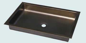 Kitchen Sinks - Bronze Kitchen Sinks- Custom Kitchen Sinks Bronze Kitchen Sinks - Shallow Undermount W/ Medium Patina # 5221
