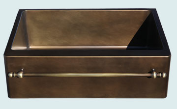 Custom Bronze Kitchen Sinks #5253 | Handcrafted Metal Inc