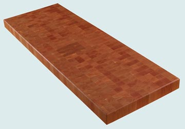 Wood Countertops - Cherry Wood Countertops- End Grain Cherry wood Countertops - End grain Cherry # 4056