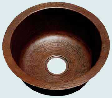 Bar Sinks - Copper Bar Sinks- Round Copper Bar Sinks - John Henry # 2861