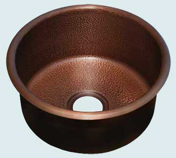 Bar Sinks - Copper Bar Sinks- Round Copper Bar Sinks - Mumtaz Mahal # 2879