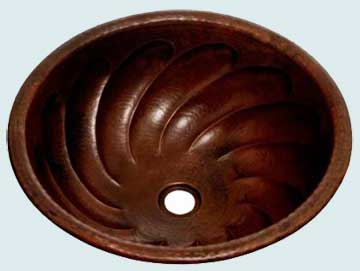 Bath Sinks - Copper Bath Sinks- Round Copper Bath Sinks - Caveat  # 2003