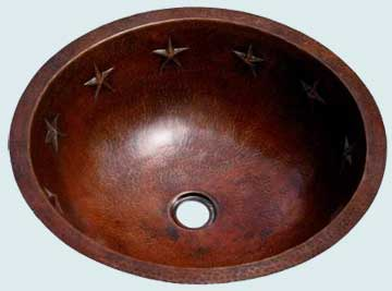 Bath Sinks - Copper Bath Sinks- Round Copper Bath Sinks - Citation  # 2001