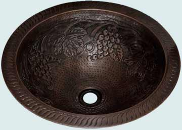 Bath Sinks - Copper Bath Sinks- Round Copper Bath Sinks - Cryer Creek # 14