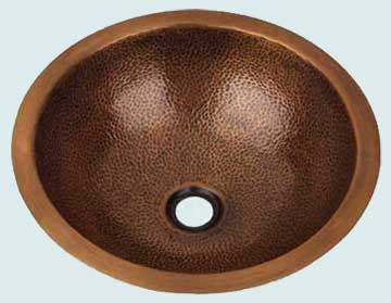 Bath Sinks - Copper Bath Sinks- Round Copper Bath Sinks - High Echelon # 1986