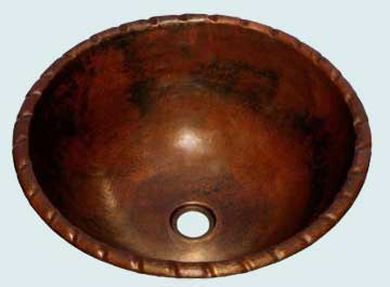 Bath Sinks - Copper Bath Sinks- Round Copper Bath Sinks - Selmar # 1993