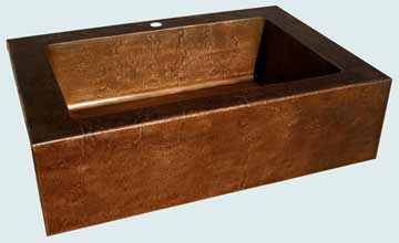 Custom Copper Kitchen Sinks #3387 | Handcrafted Metal Inc