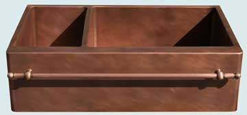 Custom Copper Kitchen Sinks #3665 | Handcrafted Metal Inc