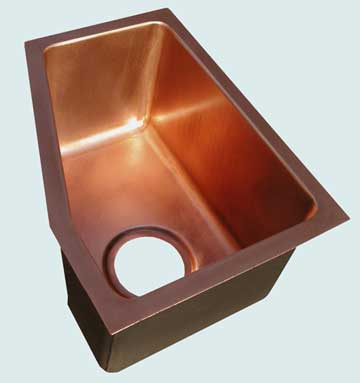 Bar Sinks - Copper Bar Sinks- Bar & Prep Sinks Copper Bar Sinks - Customized Design # 3451