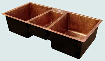 Custom Copper Kitchen Sinks #3457 | Handcrafted Metal Inc