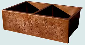 Custom Copper Kitchen Sinks #3469 | Handcrafted Metal Inc