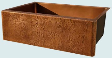 Custom Copper Kitchen Sinks #3473 | Handcrafted Metal Inc