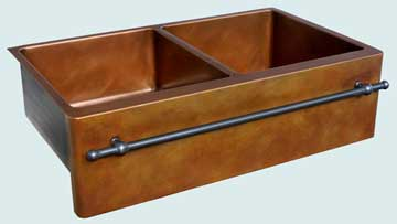 Custom Copper Kitchen Sinks #3590 | Handcrafted Metal Inc