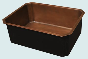 Kitchen Sinks - Copper Kitchen Sinks- Custom Kitchen Sinks Copper Kitchen Sinks - Octagon in Smooth Copper # 3635