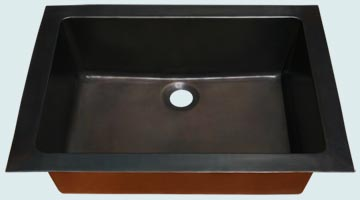 Bar Sinks - Bronze Bar Sinks- Bar & Prep Sinks Bronze Bar Sinks - Bronze Rear Center Drain # 4000