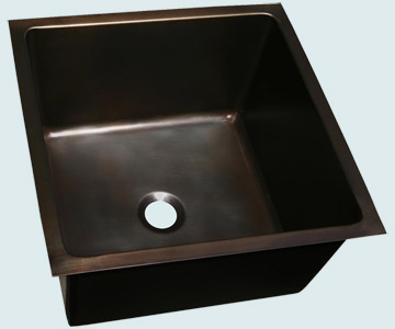 Bar Sinks - Bronze Bar Sinks- Bar & Prep Sinks Bronze Bar Sinks - Bronze Large Bar Sink # 4001