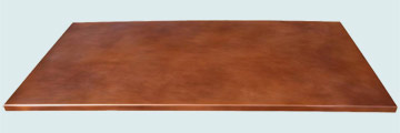 Countertops - Copper Countertops- Island Copper Countertops - Smooth W/ Medium Patina # 2723