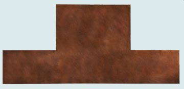 Backsplashes - Copper Backsplashes- Wall & Door Panels Copper Backsplashes - Seamless Copper Hood Wall # 3330