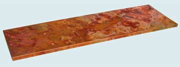 Countertops - Copper Countertops- Straight Copper Countertops - Crackling Fire Old World Patina # 3331