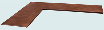 Countertops - Copper Countertops- L Shape Copper Countertops - Simple Channel Edge L # 4238