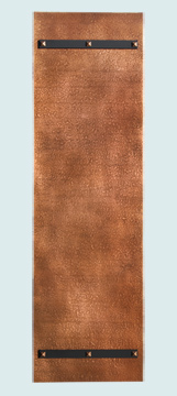Backsplashes - Copper Backsplashes- Wall & Door Panels Copper Backsplashes - Door Panel w Straps # 4424