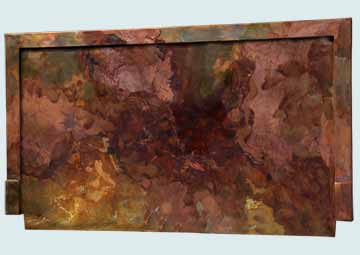 Backsplashes - Copper Backsplashes- Wall & Door Panels Copper Backsplashes - Lori's Bold Old World Finish Backsplash # 4506