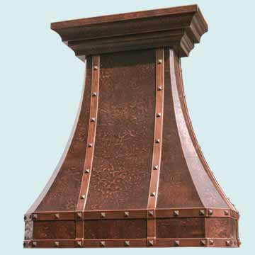 Custom Copper Range Hoods Tall French Country 2451