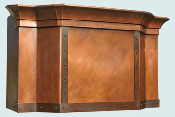 Custom Copper Range Hood #2497 | Handcrafted Metal Inc