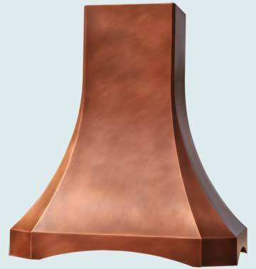 Custom Copper Range Hoods French Sweep 2419
