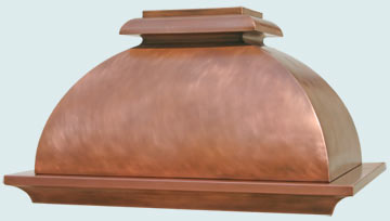 Custom Copper Range Hoods French Bell 2420