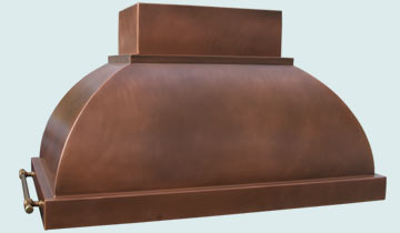Custom Copper Range Hoods Double Roll 2446