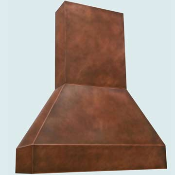 Custom Copper Range Hood #2744 | Handcrafted Metal Inc