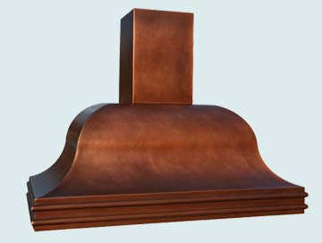Custom Copper Range Hoods Chateau 2746