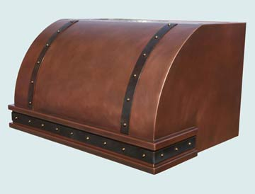 Custom Copper Range Hoods Single Roll 2748