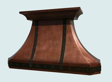 Custom Copper Range Hoods French Country 2751