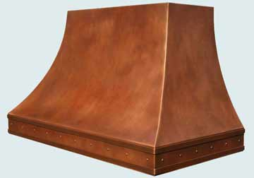 Custom Copper Range Hoods Double Sweep 2752