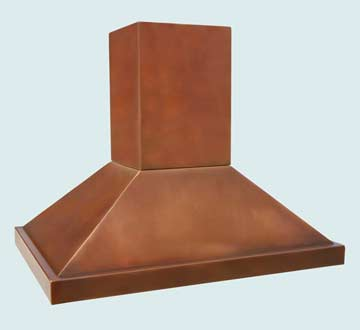 Custom Copper Range Hood #2755 | Handcrafted Metal Inc