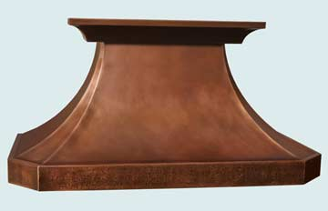 Custom Copper Range Hoods French Country 2756