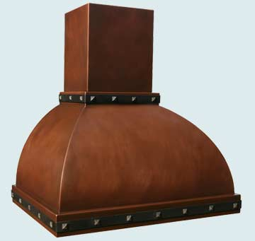 Custom Copper Range Hoods Double Roll 2757