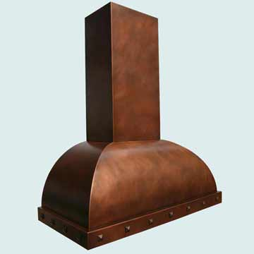 Custom Copper Range Hoods Double Roll 2762