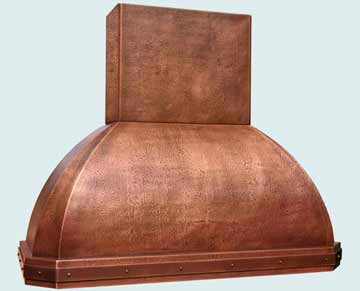 Custom Copper Range Hoods French Roll 2763