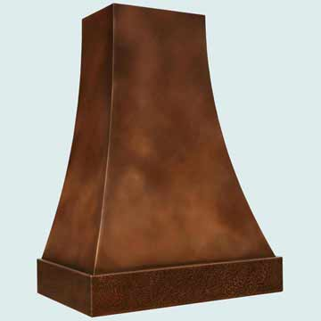 Custom Copper Range Hoods Double Sweep 2765