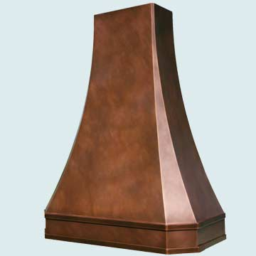 Custom Copper Range Hoods Tall French Sweep 2767