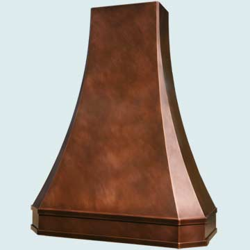 Custom Copper Range Hood #2767 | Handcrafted Metal Inc
