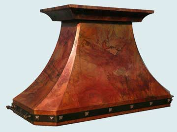 Custom Copper Range Hoods French Country 2768