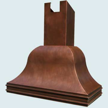 Custom Copper Range Hood #2770 | Handcrafted Metal Inc