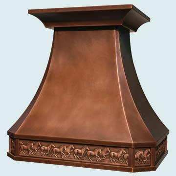 Custom Copper Range Hoods French Country 2771