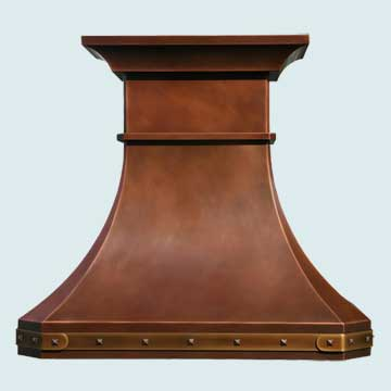 Custom Copper Range Hoods Tall French Country 2773